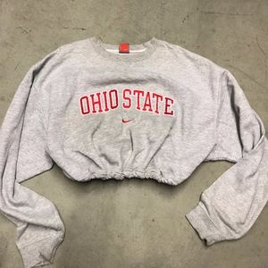 Ohio state drawstring crop sweatshirt